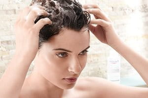 Eczema on hair and in hair line: use a gentle shampoo