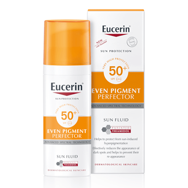 Even Pigment Perfector Sun Fluid Thiamidol Middle East Eucerin Box